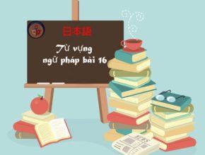 Từ vựng và ngữ pháp bài 16- Học hiểu cùng Vinanippon