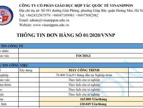 """Tuyển 09 nam đơn hàng """"Máy Công Trình"""" thi tuyển ngày 26 tháng 08 năm 2020"""